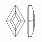Preview: Swarovski® Kristalle 2773 Diamond Shape Hotfix, 9,9 x 5,9 mm (Strass-Steine)