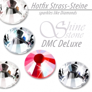 DMC ShineStone DeLuxe Hotfix Strass-Steine, SS16 Farbe Feuerrot AB (Light Siam AB)