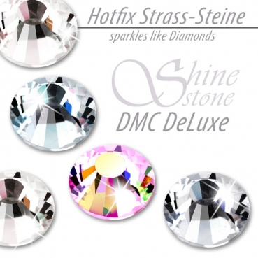 DMC ShineStone DeLuxe Hotfix Strass-Steine, SS12 Farbe Crystal AB