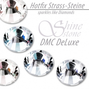 DMC ShineStone DeLuxe Hotfix Strass-Steine, SS34 Farbe Crystal