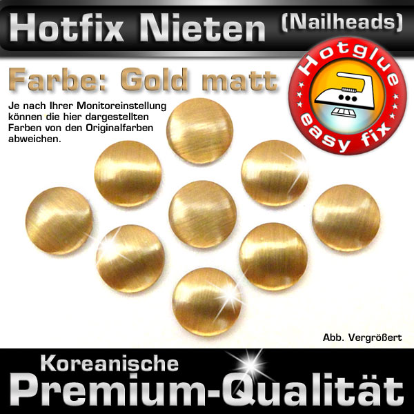 shinestone metall nieten hotfix nailhead 2 mm gold matt premium qualit t. Black Bedroom Furniture Sets. Home Design Ideas