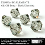 Swarovski® Perlen 5328, 4 mm, Black Diamond